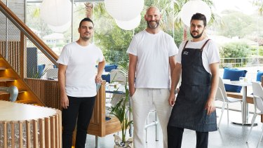Allesandro Pavoni (centre), head chef of Ormeggio, says the fashion in food is towards a more natural approach.