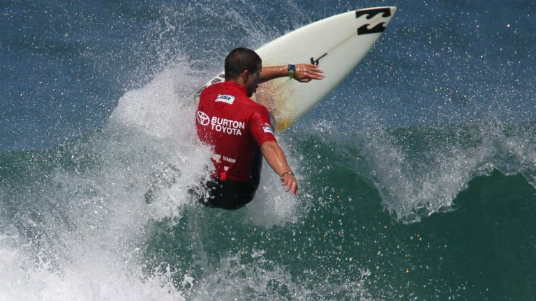 """Kelly Slater called dos Santos """"one of the great barrel riders of his short time""""."""