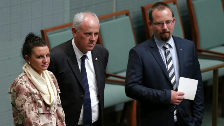 Crossbench senators Jacqui Lambie, John Madigan and Ricky Muir appear opposed to the shipping industry changes.