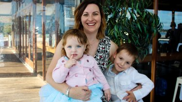 Paula Parry with Georgia, two, and Alex, 5.