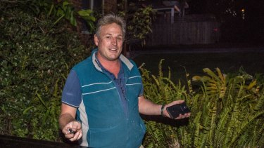 'It's hilarious'. Real tradie Andrew MacRae arrives at his home in Lane Cove.