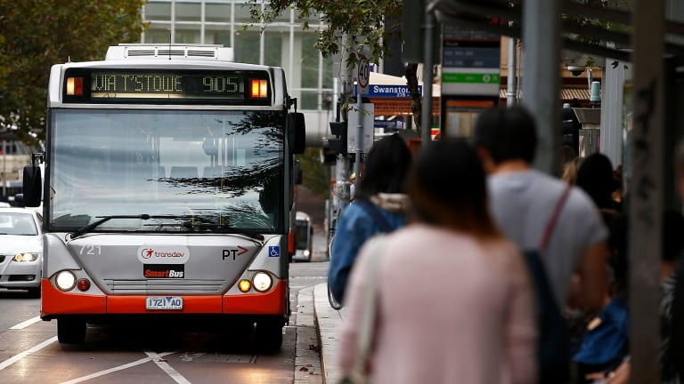 A Transdev bus on Lonsdale Street. Many of the company's buses have been deemed unroadworthy.