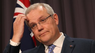 Treasurer Scott Morrison says he's always been careful about making surplus predictions.