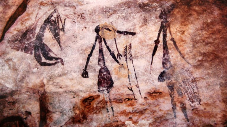 Subtle vandalism: You won't find any rock art depicting Jar'Edo Wens on the walls of caves in the Kimberley.