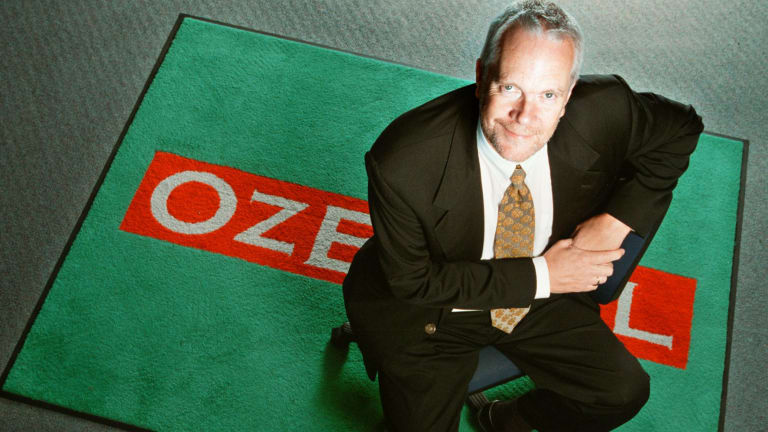 Justin Milne when he was managing director of OzEmail in 2002.