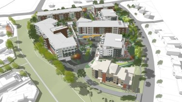 An artist's impression of the design approved for the Goodwin Village Farrer redevelopment.