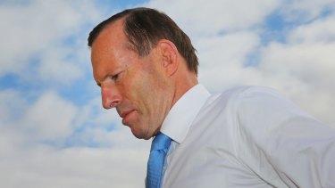Pressure: Prime Minister Tony Abbott.