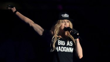 Madonna performs onstage during day 3 of the 2015 Coachella Valley Music & Arts Festival (Weekend 1) at the Empire Polo Club on April 12, 2015 in Indio, California.