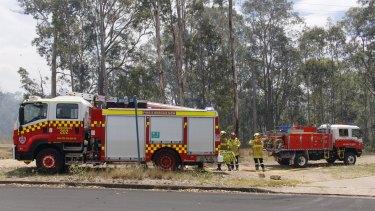 Fire and Rescue Services NSW attend a fire near Kurri Kurri, NSW.