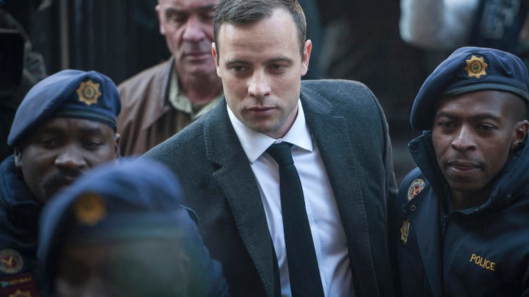 Jailed for six years: Oscar Pistorius.
