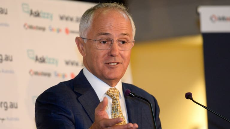 Prime Minister Malcolm Turnbull speaking at the launch.