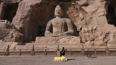 Massive luxurious passage built for Yungang Grottoes, one of the nation's most famous ancient rock-cut Buddhist sculptures.
