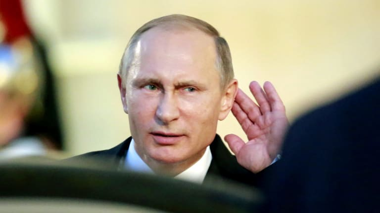 Say what?: The Kremlin has denied any role in the spread of fake news through US social media, or the use of online advertising to influence the 2016 US presidential election.