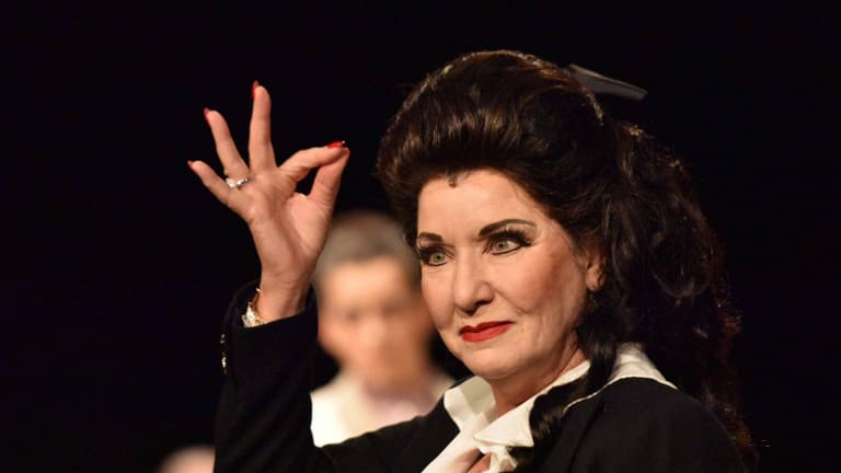 Controlled bravura: Amanda Muggleton as Maria Callas in <i>Master Class</i>.