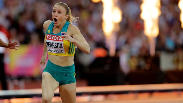 Back on top: Australia's Sally Pearson has been in line with her since winning the women's 100m hurdles race during the World Athletics Championships in London.
