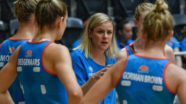 In the hot seat: New Swifts coach Briony Akle is targeting a return to the Super Netball finals.