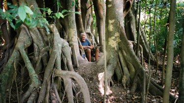 Michael Fomenko at age 80 in his tree house near Cairns.