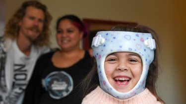 Seven-year-old Phoenix Clucas choked when her necklace caught on a slide at a birthday party on the central coast.