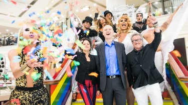 Myer have announced a three-year partnership with Mardi Gras.