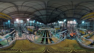 Inside the Wonthaggi desalination plant.