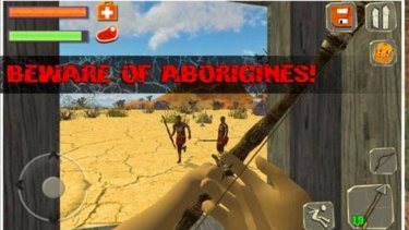 A game that allows players to kill Indigenous Australian characters has sparked outrage, with thousands of people calling for an apology from app developers and host sites.