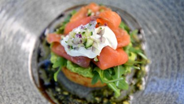 Smoked Salmon and Potato Rosti.