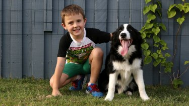 ADHD sufferer Jesse Burgess and his dog River, who helps him deal with the disorder.