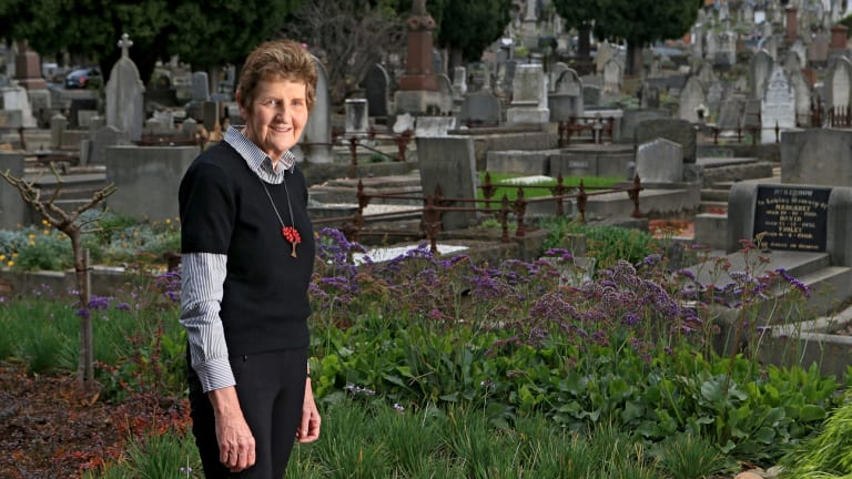 Helen Page at Boroondara General Cemetery, Kew.