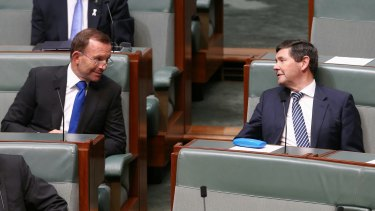Backbenchers Tony Abbott and Kevin Andrews during Prime Minister Malcolm Turnbull's ministerial statement on national security in November.