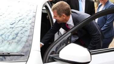 Law and order: Premier Mike Baird.
