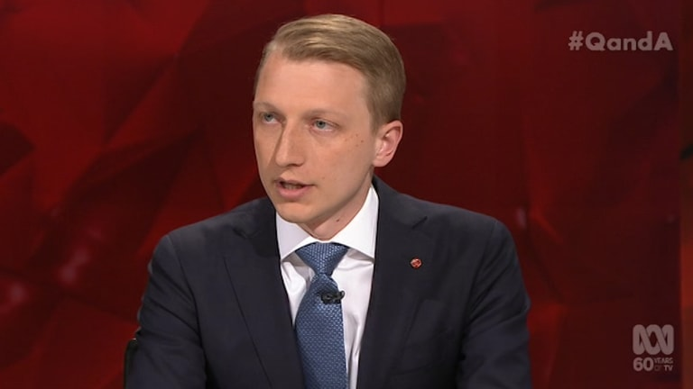 """""""The detention centres on Manus Island and Nauru are open centres where people can come and go"""": Liberal senator James Paterson."""