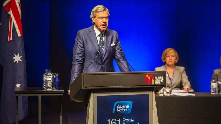 State president Michael Kroger addresses delegates at the 2016 Liberal state council.