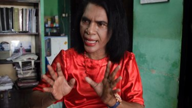 Mami Yuli, an Indonesian transgender woman.