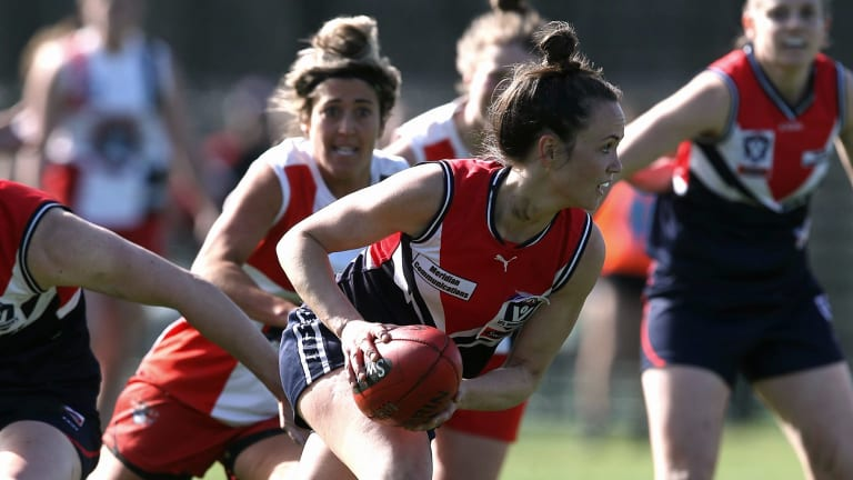 Daisy Pearce will be a key player for the Darebin Falcons in the grand final on Sunday.
