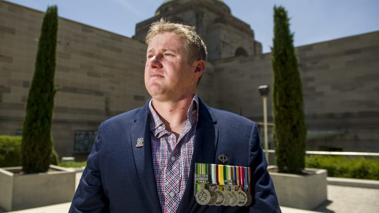 Troubled by his experiences: Rob Pickersgill, a veteran who suffers from PTSD.