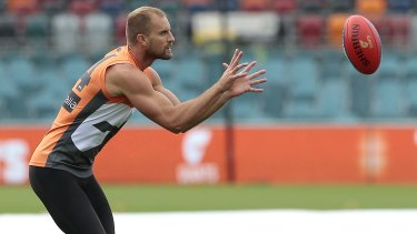 Giants player Joel Patfull will play his 200th AFL game on Sunday at Manuka Oval.