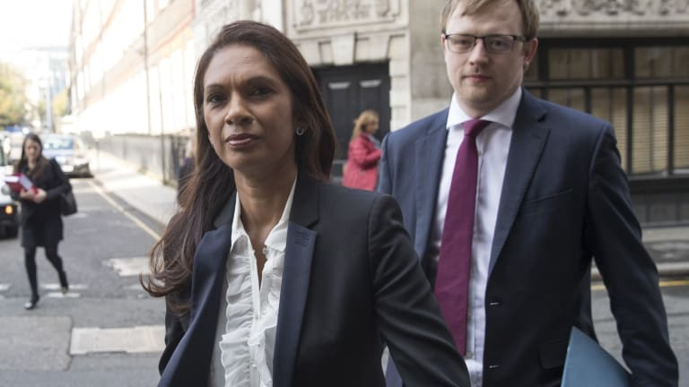 Investment manager Gina Miller arrives at the Royal Courts of Justice.