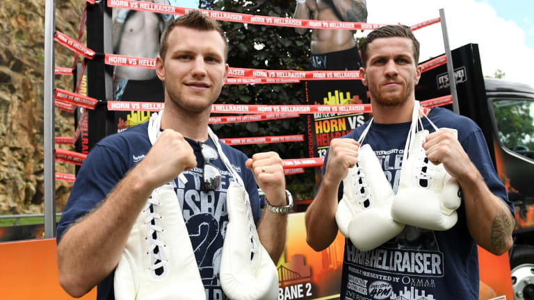 Ready: Gary Corcoran (right) is ready for anything from Jeff Horn.