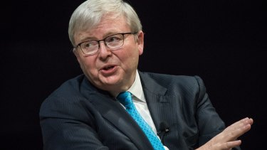 Kevin Rudd says the ABC's budget need to be protected by special legislation.