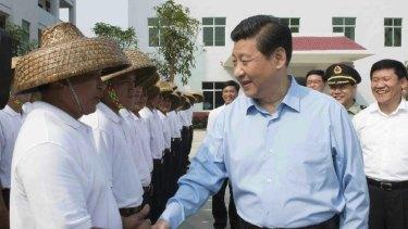 Chinese President Xi Jinping meeting maritime militia in Tanmen in April 2013.