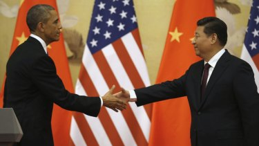 The new power generation: US President Barack Obama and Chinese President Xi Jinping at the end of their news conference in Beijing.