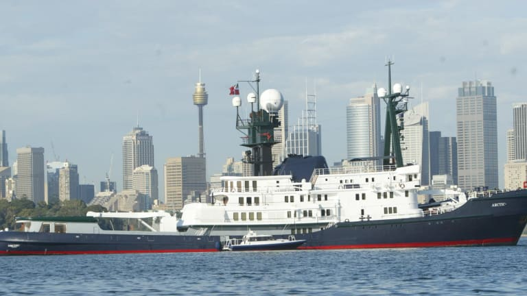 The Packer vessel Arctic P moored near Taronga Zoo in 2006.