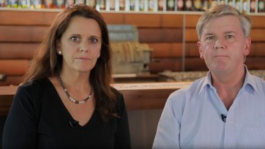 Coopers Brewery directors Melanie Cooper and Dr Tim Cooper speak in an apology video.