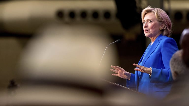 Democratic presidential candidate Hillary Clinton has seized on Donald Trump's remarks to discredit her rival.