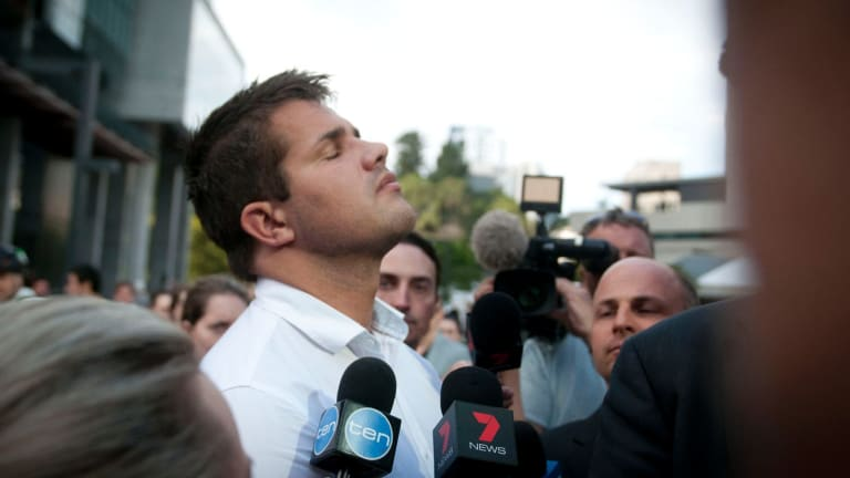 Gable Tostee leaves court a free man after being acquitted of both the murder and manslaughter of Warriena Wright.
