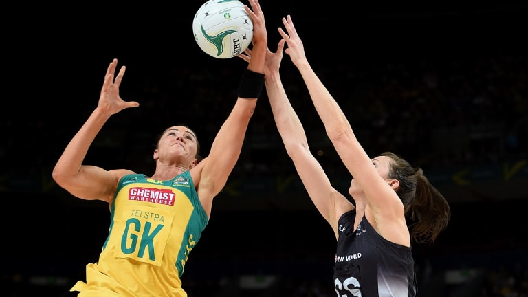 Huge loss: Australia will have to do without imposing goalkeeper Sharni Layton at the upcoming Quad Series.