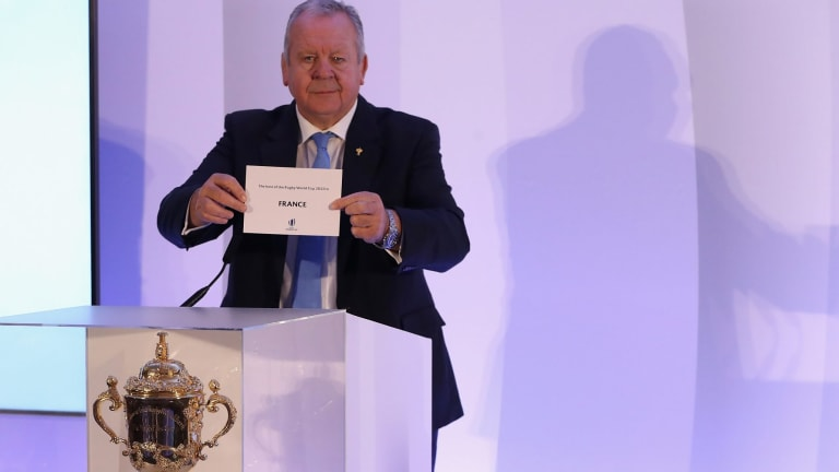 World Rugby chairman Bill Beaumont with the shock announcement.