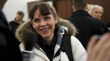 """Interconnectivity: Birgitta Jonsdottir says voters know the Pirate Party wants to """"change the system on a really deep level""""."""
