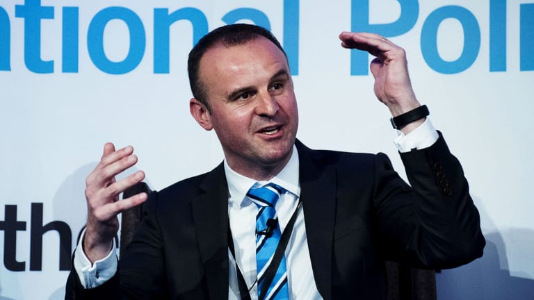 ACT Chief Minister Andrew Barr is eager to do business in Silicon Valley.