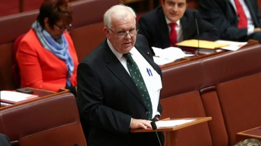 Senator Joe Bullock announced he was retiring from the Senate only 18 months after he delivered his maiden speech.